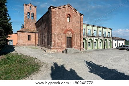 The Saint Ippolito and Biagio parish church on the top hill of Castelfiorentino Italy