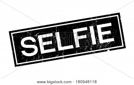 Selfie rubber stamp. Grunge design with dust scratches. Effects can be easily removed for a clean, crisp look. Color is easily changed.