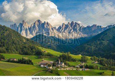 Santa Maddalena Village and the Dolomites Val di Funes Italy