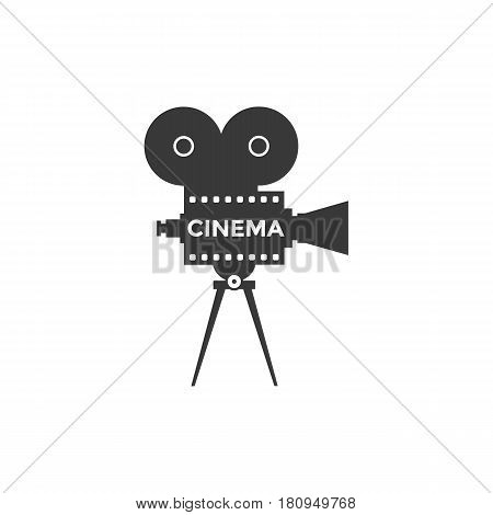 Cinema icon or symbol isolated background. Camcorder vector illustrarion