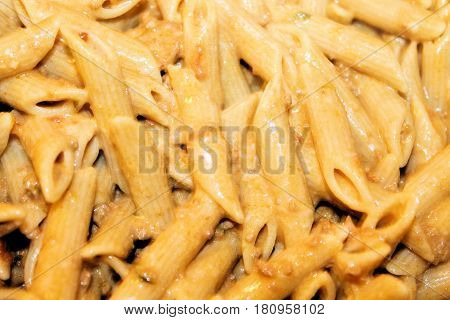 homemade pasta with bolognese sauce or ragu sauce and bechamel