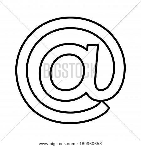 arroba symbol isolated icon vector illustration design