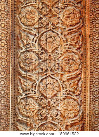 Beautiful wooden pattern ornament photograph close up