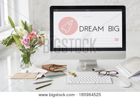 Dream Big New Business Launch Plan Concept