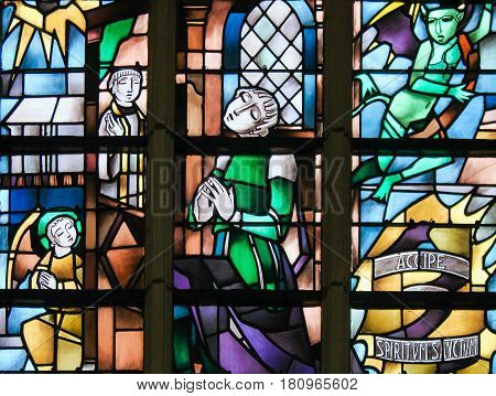 Stained Glass - Sacrament Of Penance Or Confession