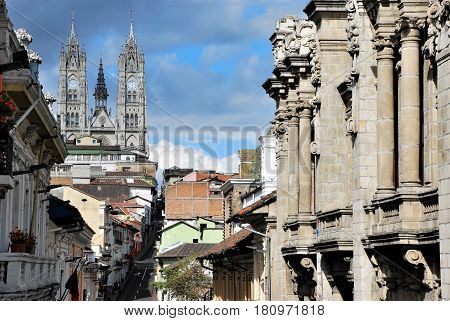 View of the Cathedral in Quito, Ecuador