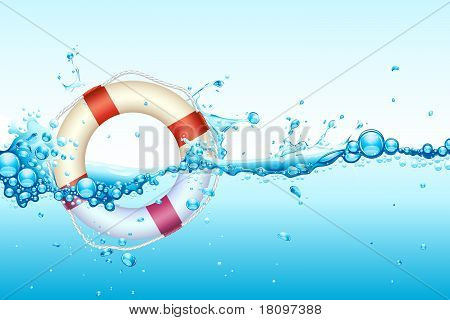 Lifebouy in Water