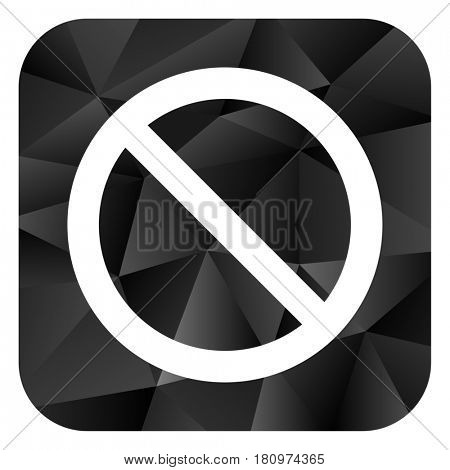 Access denied black color web modern brillant design square internet icon on white background.