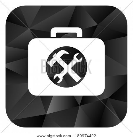 Toolkit black color web modern brillant design square internet icon on white background.