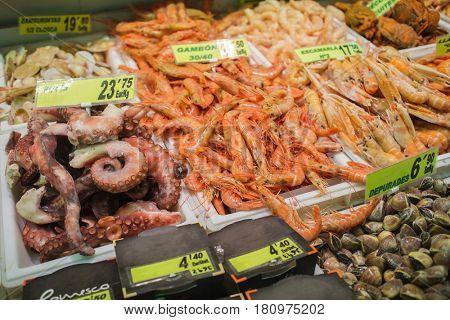 Vast array of fish awaits the shopper market