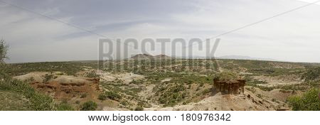 Panoramaic Landscape Over Oldupai Gorge, Tanzania