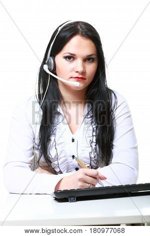 Modern Business Woman With Headset