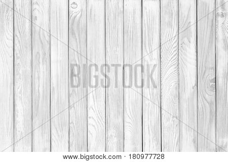 Background Of Weathered Painted White Wooden Plank. Seamless