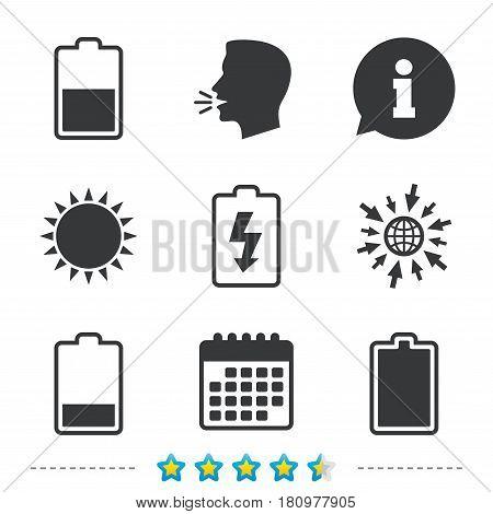 Battery Charging Icons Vector Photo Bigstock