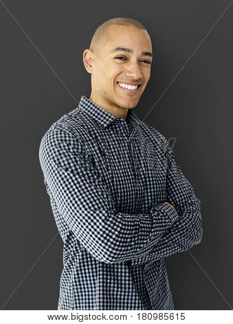 A Guy is Smiling in a Studio Shoot