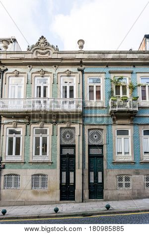 Beautiful street view of historic architectural in Lisbon, Portugal, Europe