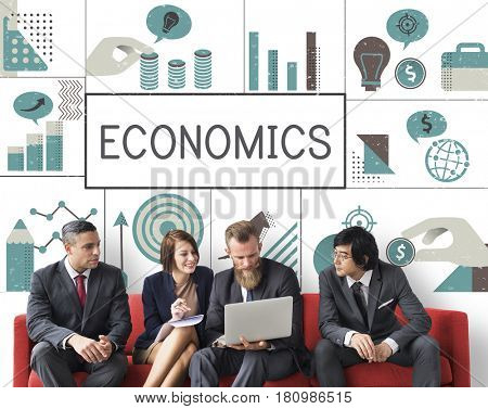 Group of business people meeting financial investment chart
