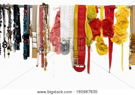 Fashion belt and artificial flower dangle on hanging
