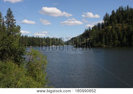 One of two Twin Lakes in beautiful North Idaho.