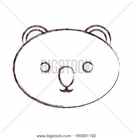 kawaii koala face icon over white background. vector illustration