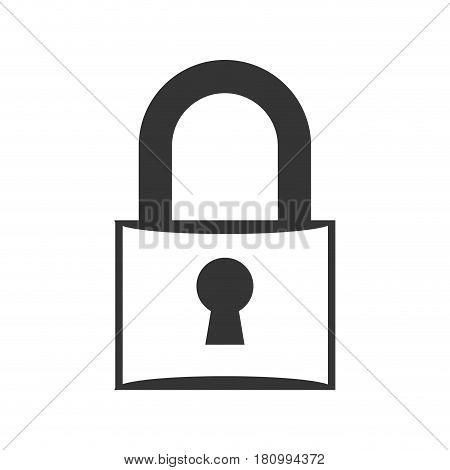 Padlock security device icon vector illustration graphic design