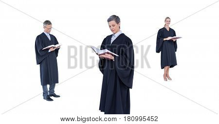 Digital composite of Judges group reading