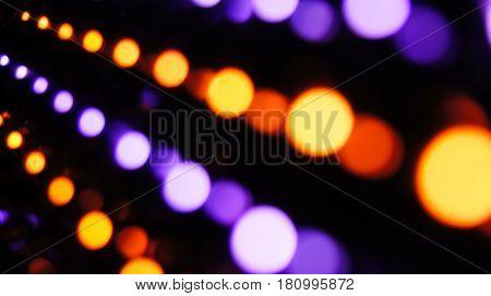 Orange and Purple Bokeh Dark Background HD