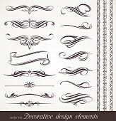 Vector decorative design elements & page decor poster