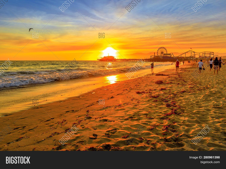 Sunset Landscape Santa Image Photo Free Trial Bigstock