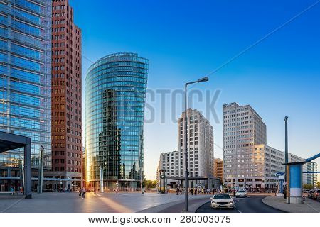 Panoramic View At The Potsdamer Platz, Berlin
