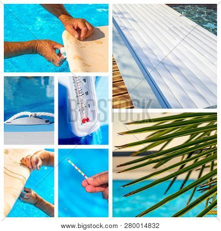 Collage About Maintenance Of A Private Pool
