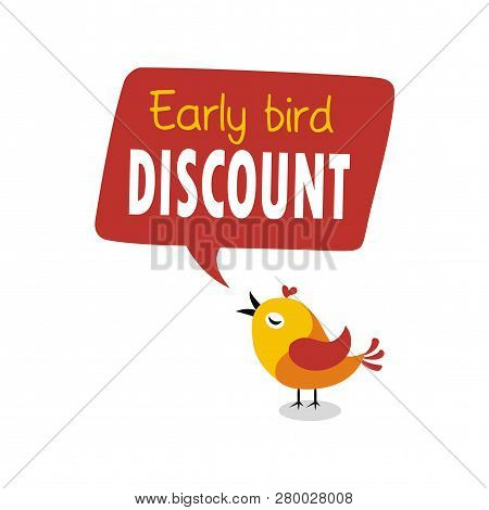 Early Bird Special Flyer Or Banner Design Template. Early Bird Discount Promotion. Vector Illustrati