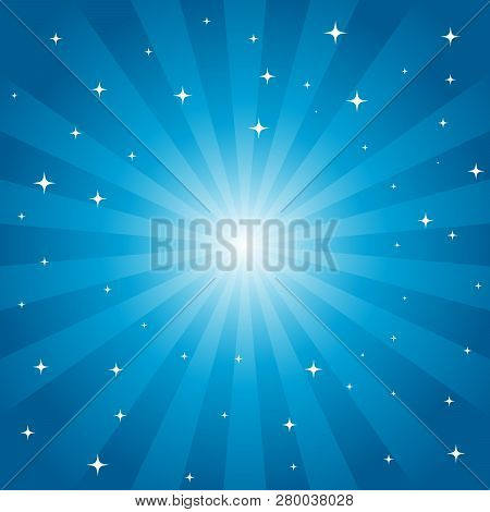 Starburst Vector Background With Star Layer. Eps8 Vector With Assets On Separate Layers. Radial Grad