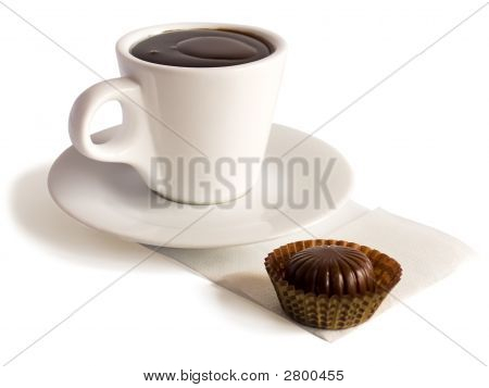 A Cup Of Hot Chocolate And A Bonbon