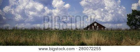 A Barn Sits In The Countryside Near Gettysburg, Pennsylvania.