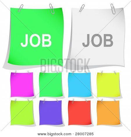 Job. Raster note papers. Vector version is in portfolio.