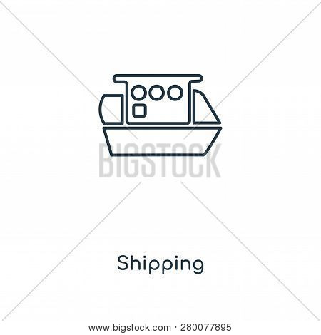 Shipping Icon In Trendy Design Style. Shipping Icon Isolated On White Background. Shipping Vector Ic