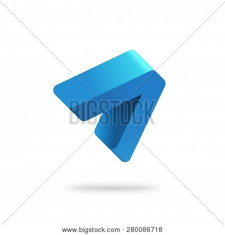 Abstract Arrow Logo Vector Template, Blue Gradient Solid Letter A Logotype Design, Idea Of Success G