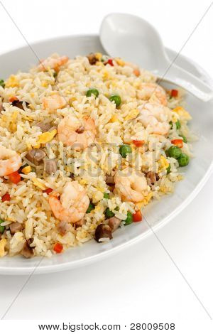 fried rice, chinese cuisine, yangzhou style poster