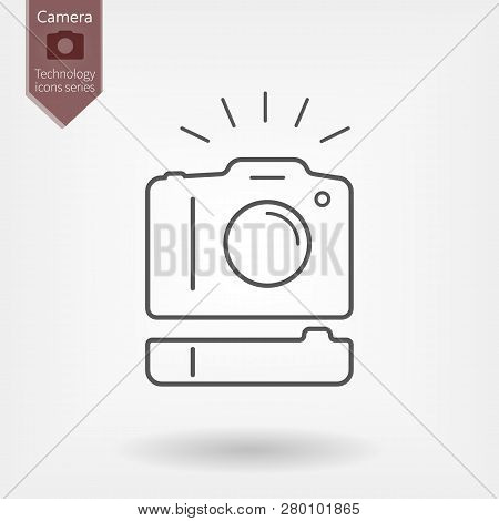 Dslr Photo Camera And Vertical Battery Grip