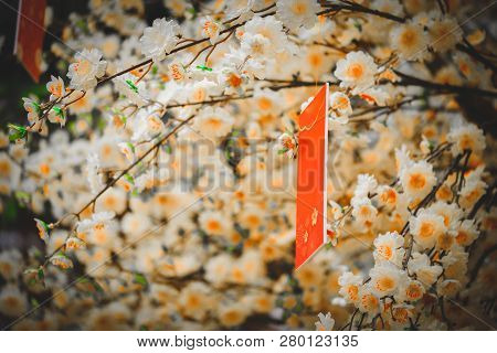 Red Envelope Lunar New Year Calligraphy Decorated. High-quality Stock Images Of Red Envelopes Lunar