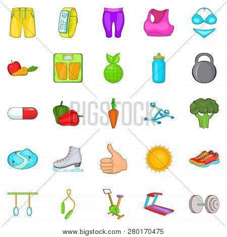 Lifestyle Icons Set. Cartoon Set Of 25 Lifestyle Icons For Web Isolated On White Background
