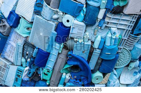 A Pile Of Plastic Litter And Waste
