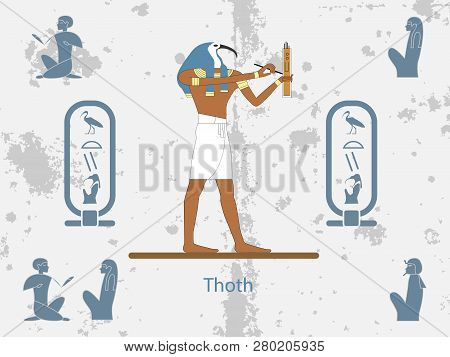 Ancient Egypt Backgrounds. Thoth Is One Of The Ancient Egyptian Deities