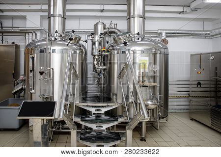 Equipment For Brewing Beer. Craft Beer Production