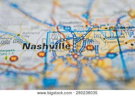 Nashville On The Map, Atlases And City Guides