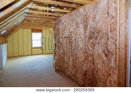 Insulation Insulation Of A New Building With Foam Wall Of An Apartment Building, Covered With Insula