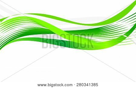Abstract Eco Waves For Background Or Template. Vector Graphic Illustration.