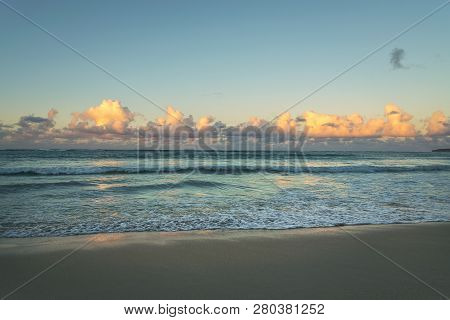 Travel Vacation Tropical Destination. Tropical Beach Landscape. Travel Vacations Destination. Travel