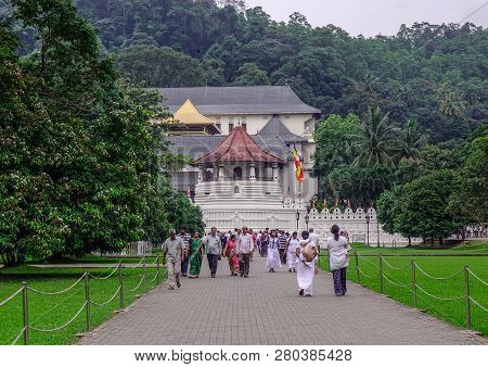 People Visit Sacred Tooth Relic Temple